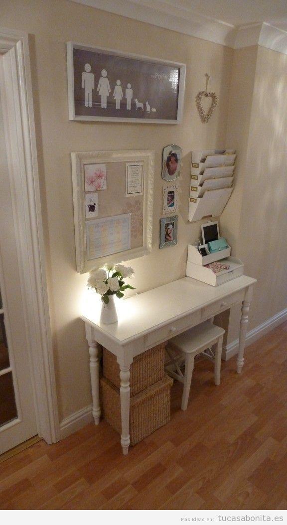 Idea para decorar la casa, un rincón con un escritorio para la familia