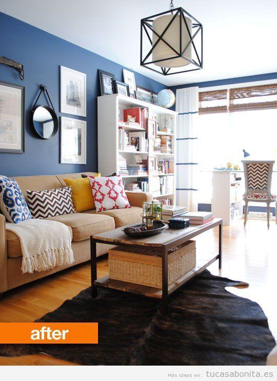 3 salas de estar antes y despu s de su redecoraci n for Cambiar el aspecto de un mueble de salon