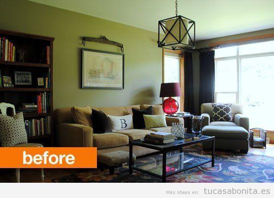 3 salas de estar antes y despu s de su redecoraci n - Decoracion de casas antes y despues ...