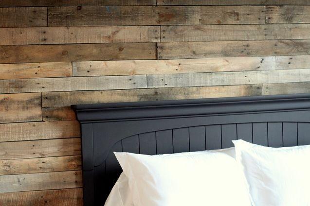 Ideas decoración pared cabecera de cama n madera