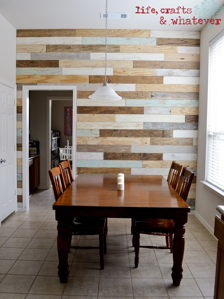 10 ideas para decorar las paredes tu casa con madera tu - Ideas decorar salon comedor ...