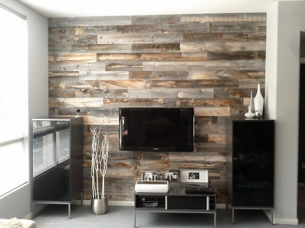 10 ideas para decorar las paredes tu casa con madera tu - Decorar pared de salon ...