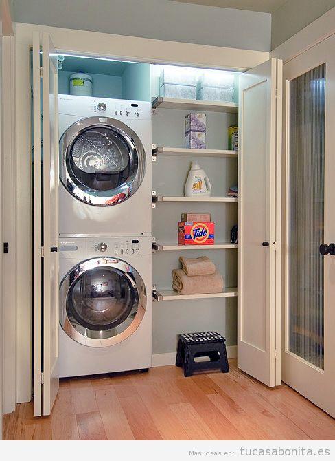 ideas para decorar y organizar lavaderos pequeños 9