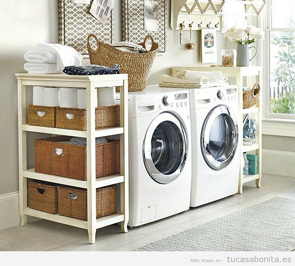 ideas para decorar y organizar lavaderos pequeños 4