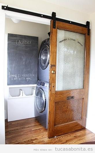 10 ideas para organizar y decorar cuartos de la colada for Lavadero pequenos
