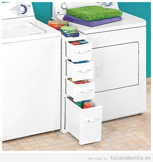 ideas para decorar y organizar lavaderos pequeños