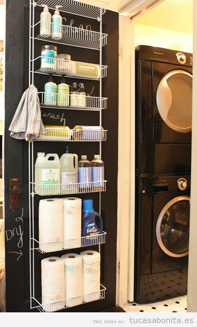 ideas para decorar y organizar lavaderos pequeños 2