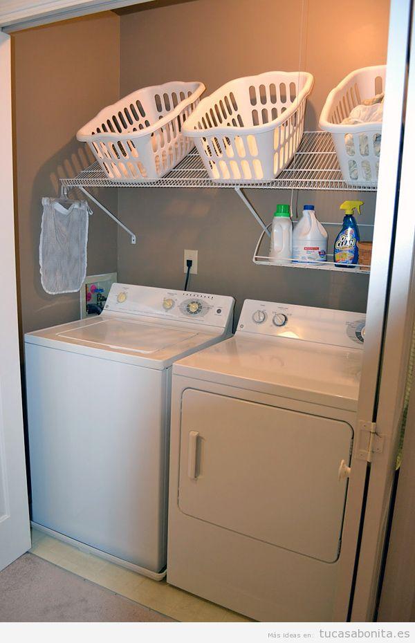 ideas para decorar y organizar lavaderos pequeños 8