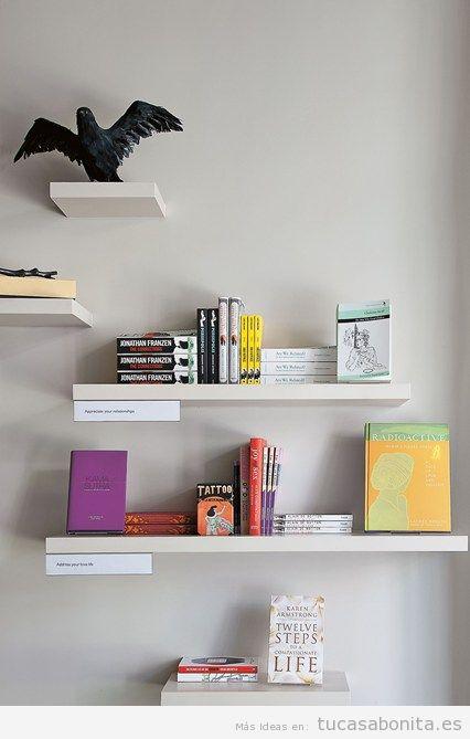 Ideas para decorar la casa con estanterías de libros y bibliotecas 7