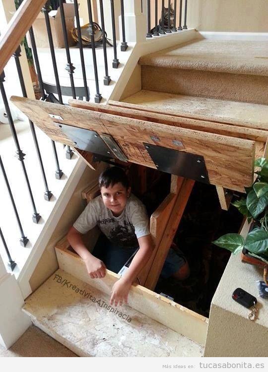 Ideas para aprovechar y decorar el espacio del hueco de la escalera 5