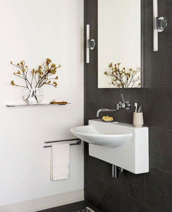 Ideas para decorar cuartos de baño y lavabos pequeños