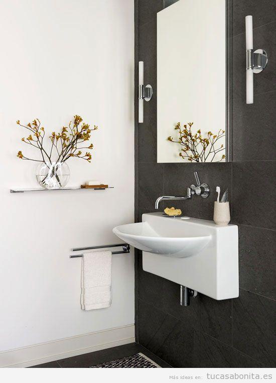 Ideas para decorar baños y lavabos pequeños 8