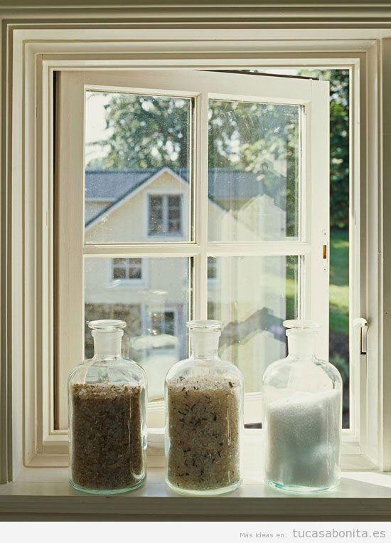 Ideas para decorar cuartos de baño y lavabos pequeños - Tu casa Bonita