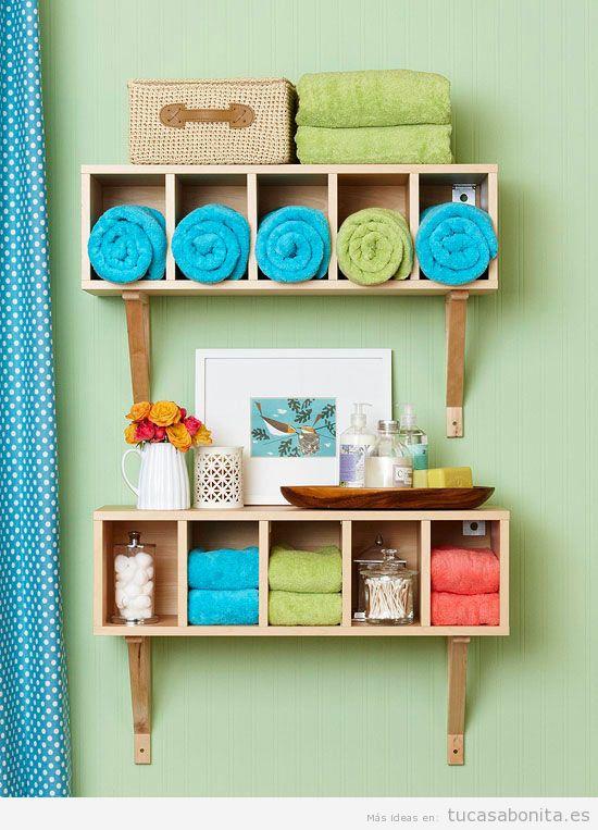 Ideas para decorar baños y lavabos pequeños 3