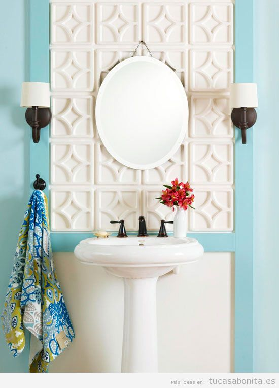 Cómo Decorar Un Baño Bonito:Ideas para decorar baños y lavabos pequeños 4