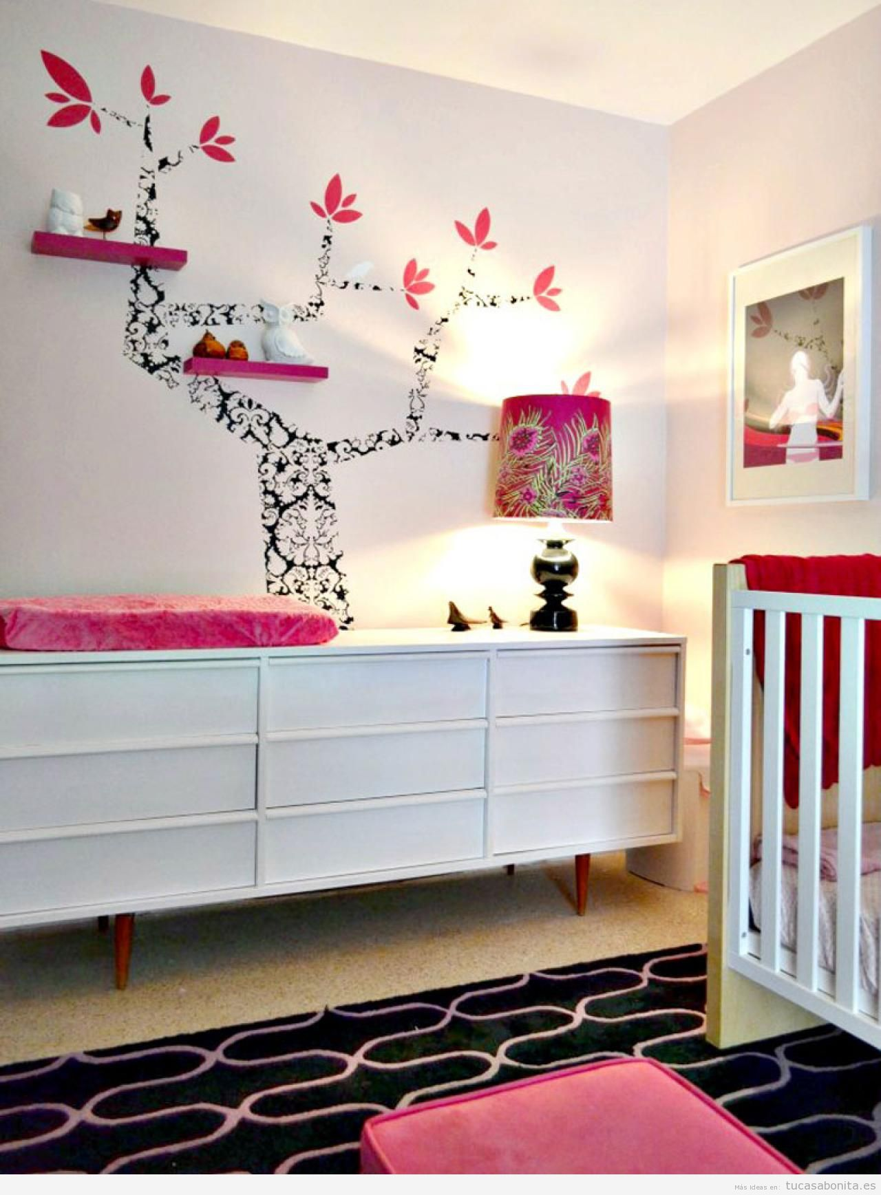 Ideas para decorar una habitaci n de beb y de ni o con for Ideas muebles