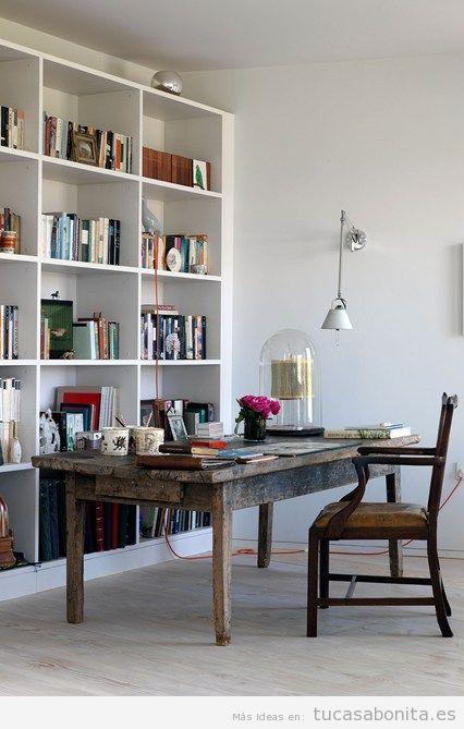 Ideas para decorar la casa con estanterías de libros y bibliotecas 3