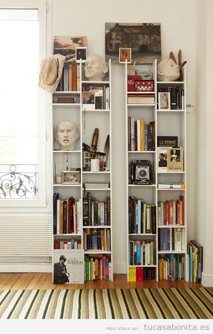 Ideas para decorar la casa con estanterías de libros y bibliotecas 2