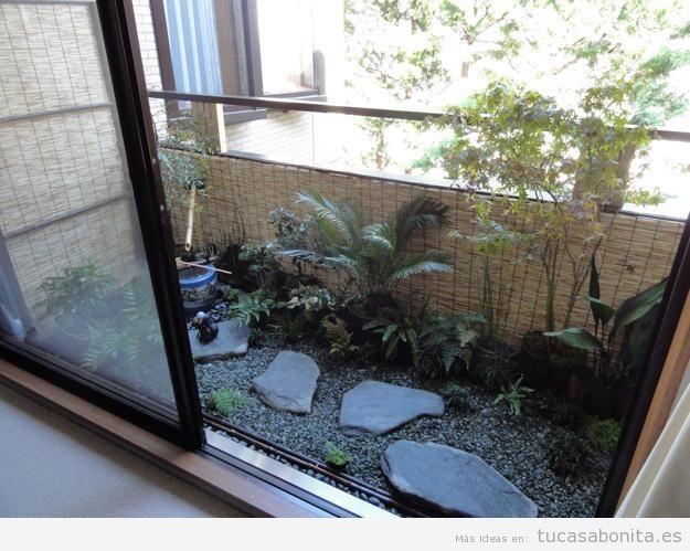 10 ideas para decorar un balc n peque o tu casa bonita for Balcones decorados con plantas