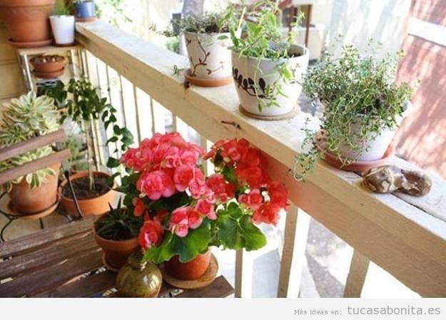 10 ideas para decorar un balc n peque o tu casa bonita for Balcony decoration ideas india