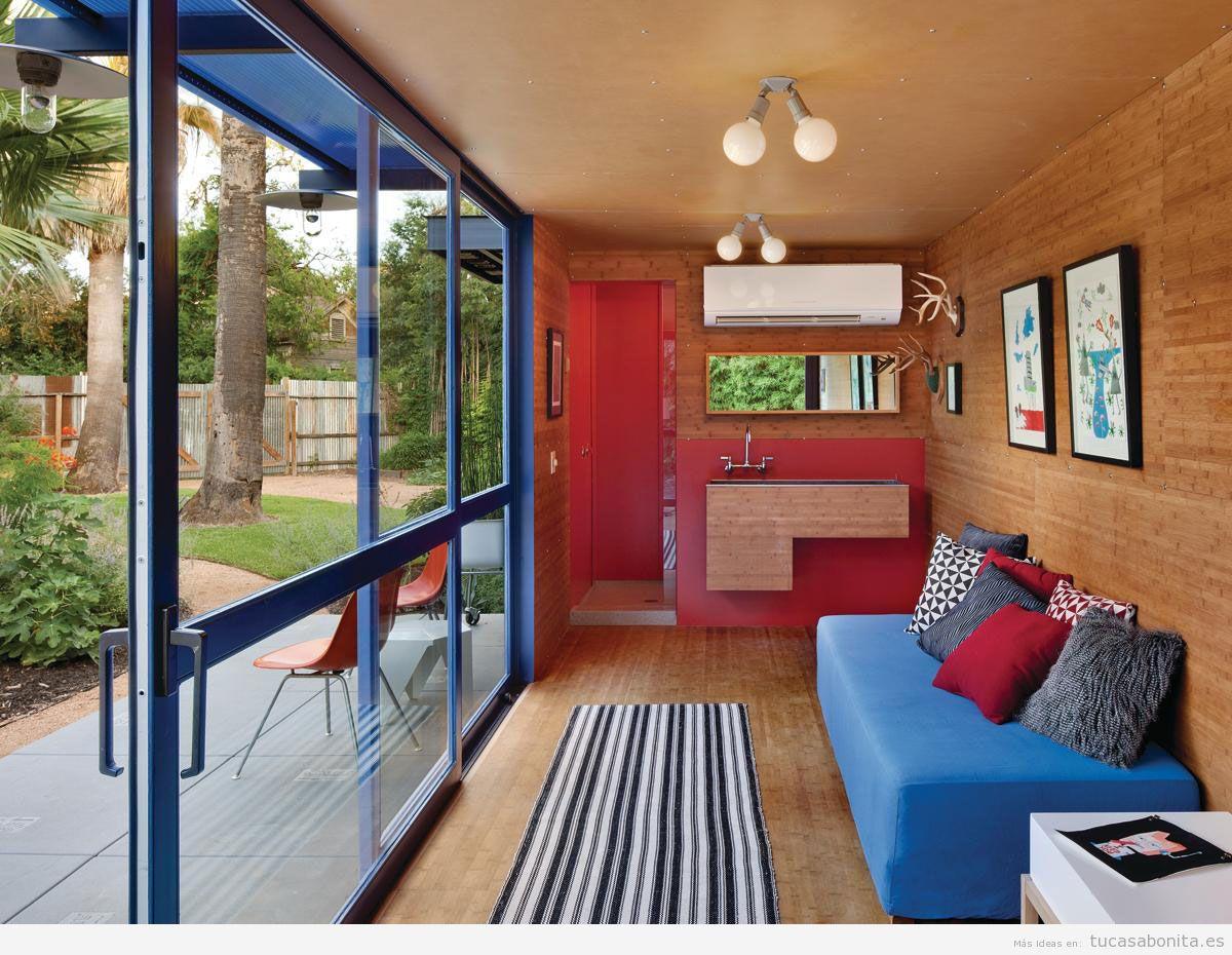 Ideas para decorar casas hechas con contenedores mar timos - Casa con contenedores maritimos ...
