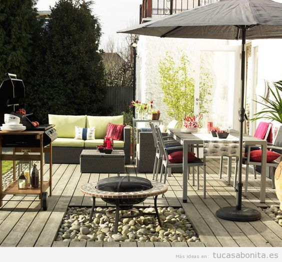 8 ideas para decorar terrazas jardines o patios tu casa for Decoracion de patios de casas