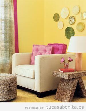 Ideas baratas decorar salón casa