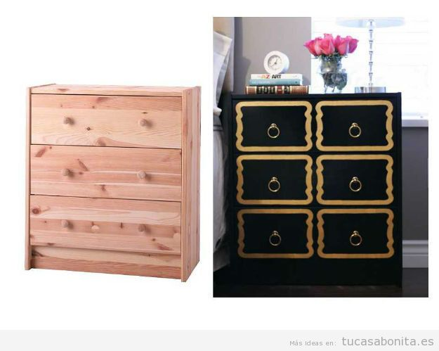 10 alucinantes ideas para modificar diy muebles y for Mueble de cajones ikea
