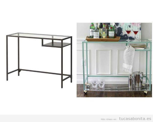 Ideas Ikea Hacks mueble bar