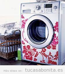 Ideas para decorar neveras y lavadoras con pegatinas o vinilos