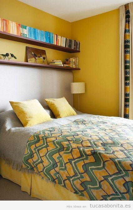 Ideas decoración dormitorio matrimonio pequeño