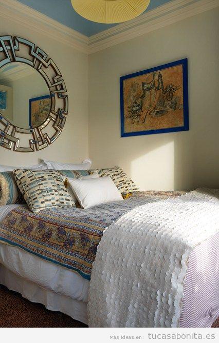 Ideas decoración dormitorio matrimonio pequeño 3