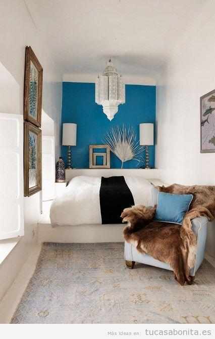 Ideas decoración dormitorio matrimonio pequeño 2