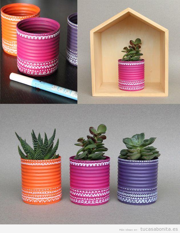 Tutorial jarrones y maceteros DIY para decorar tu casa o piso 4