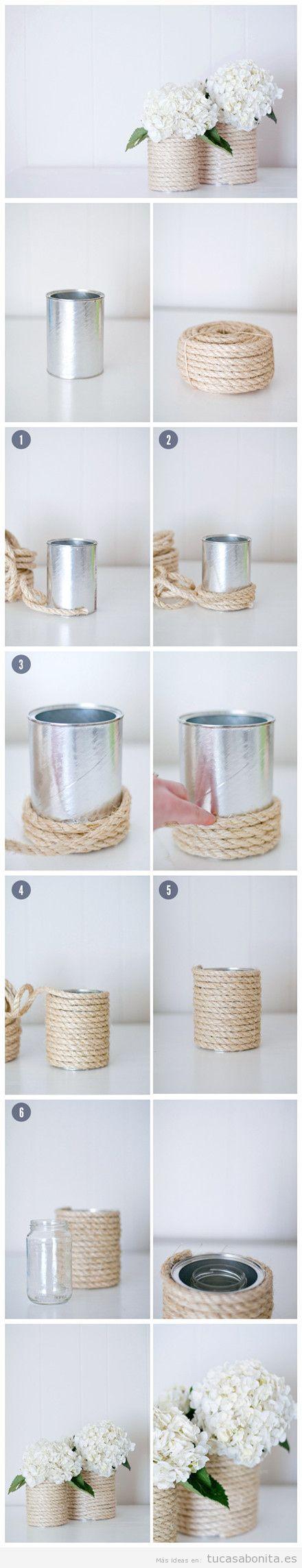 Tutorial jarrones y maceteros DIY para decorar tu casa o piso