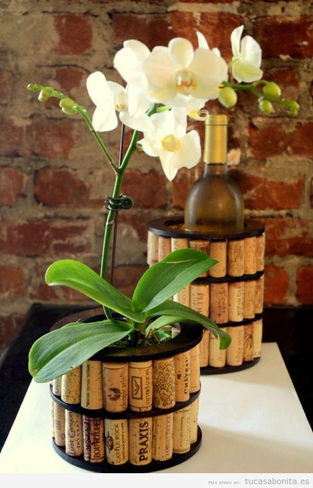 5 jarrones y maceteros DIY para decorar tu piso o casa Tu casa Bonita