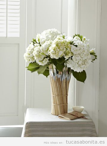 Tutorial jarrones y maceteros DIY para decorar tu casa o piso 5