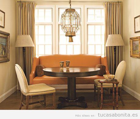 Decoración salón casa colores otoño 2015, naranja 2