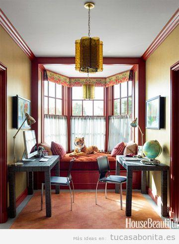 Decoración despacho casa colores otoño 2015, roko