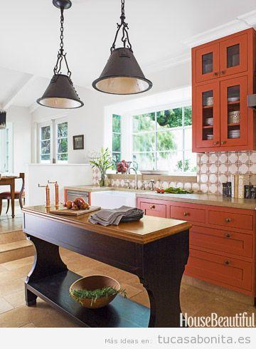 Decoración cocina casa colores otoño 2015, naranja oscuro