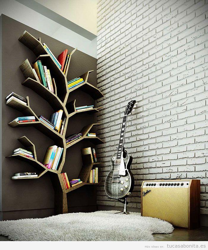 Estanterías y librerías con formas originales 8