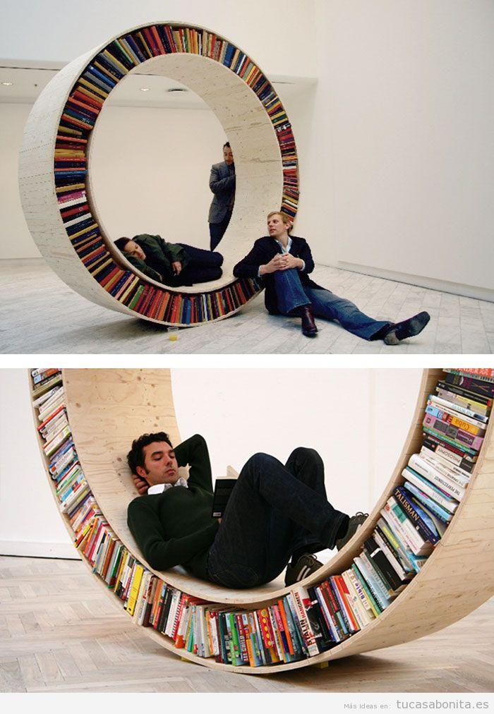Estanterías y librerías con formas originales 3