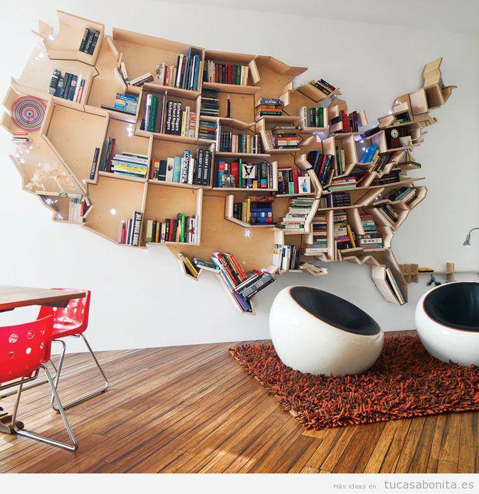 Estanterías y librerías con formas originales 4
