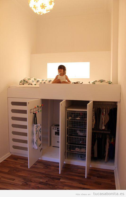C mo amueblar y decorar un dormitorio infantil peque o - Amueblar habitacion pequena ...