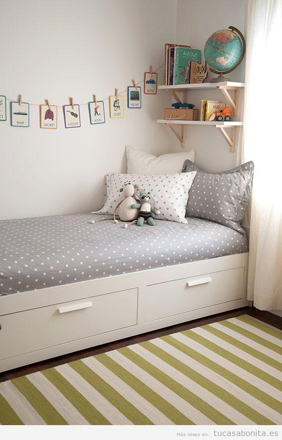 Cómo amueblar y decorar un dormitorio infantil pequeño - Tu casa Bonita