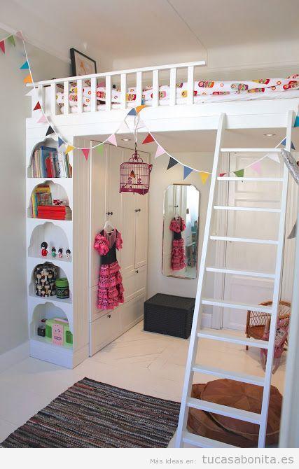 Ideas decoración y muebles habitación infantil pequeña 3
