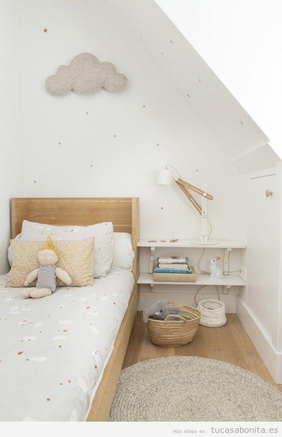 Ideas decoración y muebles habitación infantil pequeña