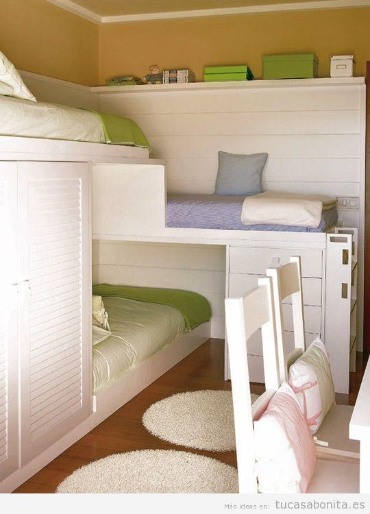 ideas decoracin y muebles habitacin infantil pequea11 - Amueblar Habitacion Pequea