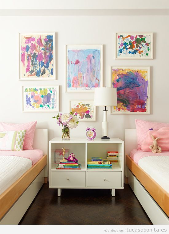 Camas gemelas tu casa bonita ideas para decorar pisos modernos - Images of kiddies decorated room ...