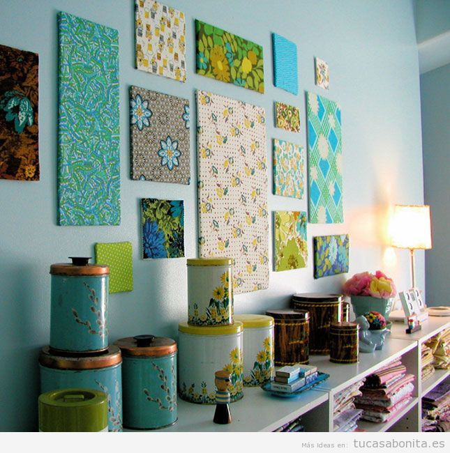 Ideas para decorar las paredes de casa con cuadros DIY 2